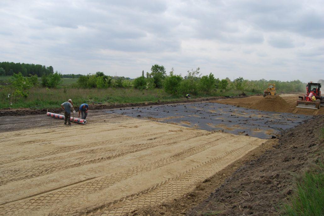 Low & Bonar separatie met geotextielen