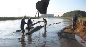 Anti-erosiemat : oeverbescherming met Enkamat A20