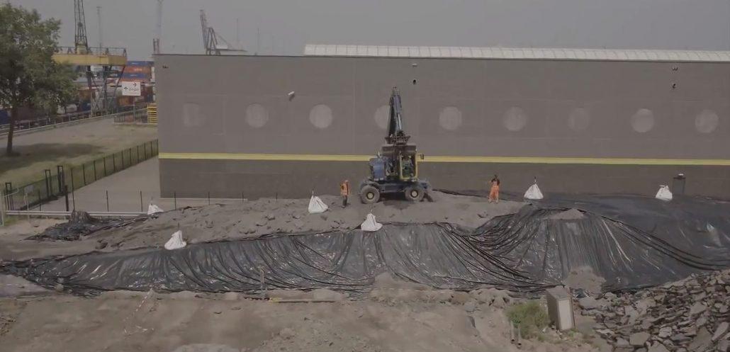 T&F LDPE 0,5 mm folie voor afdekking verontreinigde grond